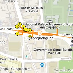 Seoul Subway Map 1980s.Gyeonghuigung Palace 경희궁 Official Korea Tourism Organization