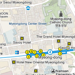 Seoul Subway Map 2015.Myeong Dong 명동 Official Korea Tourism Organization